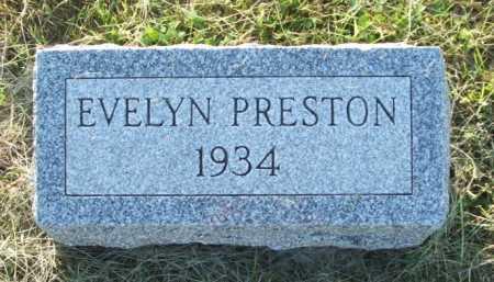 PRESTON, EVELYN - Frontier County, Nebraska | EVELYN PRESTON - Nebraska Gravestone Photos