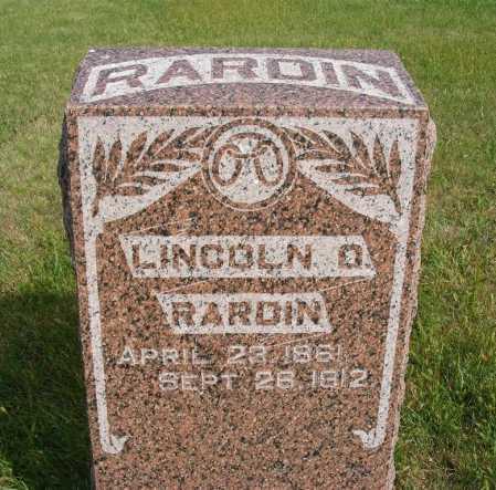 RARDIN, LINCOLN O. - Frontier County, Nebraska | LINCOLN O. RARDIN - Nebraska Gravestone Photos