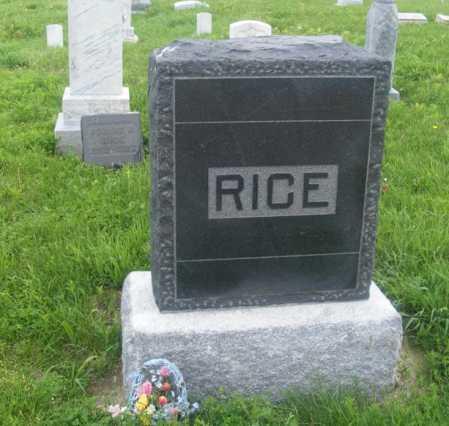 RICE, FAMILY - Frontier County, Nebraska | FAMILY RICE - Nebraska Gravestone Photos