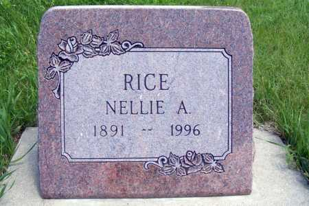 RICE, NELLIE A. - Frontier County, Nebraska | NELLIE A. RICE - Nebraska Gravestone Photos