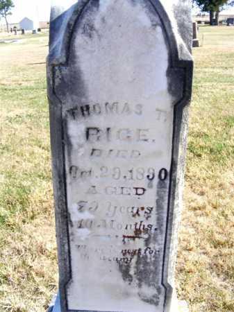 RICE, THOMAS T. - Frontier County, Nebraska | THOMAS T. RICE - Nebraska Gravestone Photos