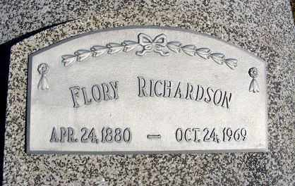 RICHARDSON, FLORY - Frontier County, Nebraska | FLORY RICHARDSON - Nebraska Gravestone Photos