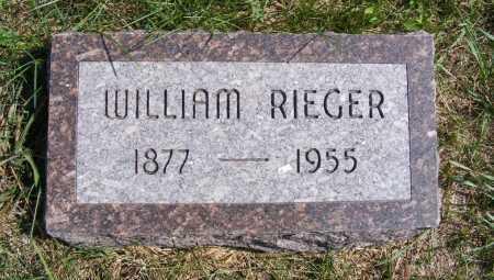 RIEGER, WILLIAM - Frontier County, Nebraska | WILLIAM RIEGER - Nebraska Gravestone Photos