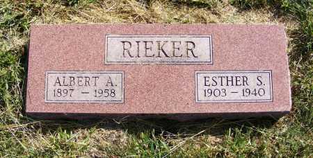 RIEKER, ALBERT A. - Frontier County, Nebraska | ALBERT A. RIEKER - Nebraska Gravestone Photos