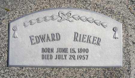 RIEKER, EDWARD - Frontier County, Nebraska | EDWARD RIEKER - Nebraska Gravestone Photos