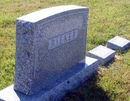 RIEKER, FAMILY - Frontier County, Nebraska | FAMILY RIEKER - Nebraska Gravestone Photos