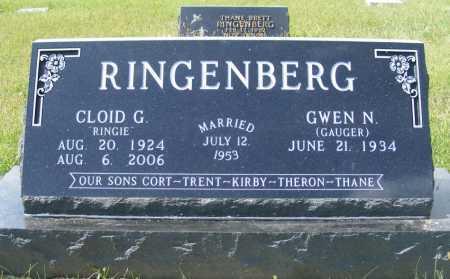 GAUGER RINGENBERG, GWEN N. - Frontier County, Nebraska   GWEN N. GAUGER RINGENBERG - Nebraska Gravestone Photos