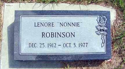 "ROBINSON, LENORE ""NONNIE"" - Frontier County, Nebraska | LENORE ""NONNIE"" ROBINSON - Nebraska Gravestone Photos"