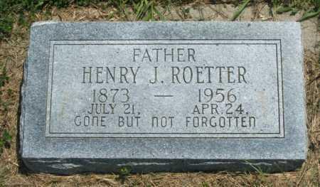 ROETTER, HENRY J. - Frontier County, Nebraska | HENRY J. ROETTER - Nebraska Gravestone Photos