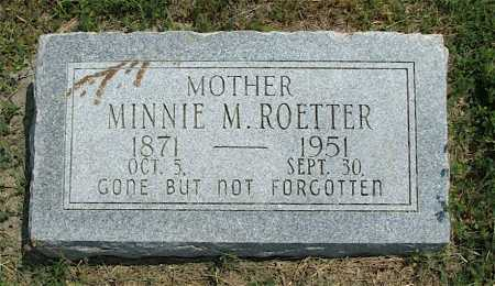 ROETTER, MINNIE M. - Frontier County, Nebraska | MINNIE M. ROETTER - Nebraska Gravestone Photos