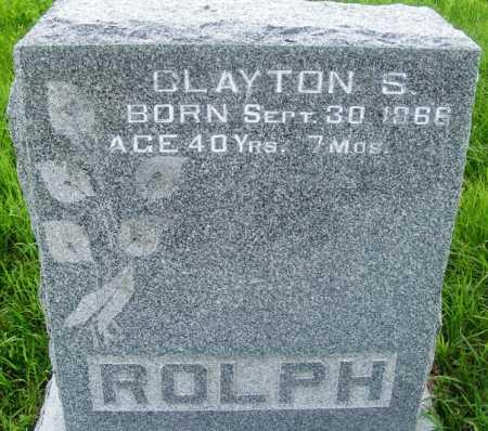 ROLPH, CLAYTON S. - Frontier County, Nebraska | CLAYTON S. ROLPH - Nebraska Gravestone Photos