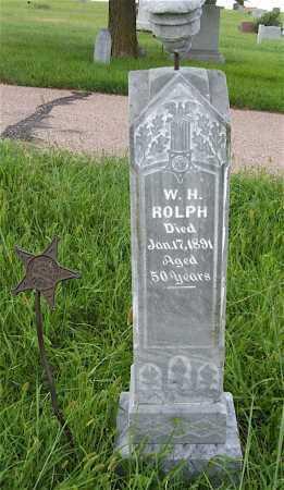 ROLPH, W.H. - Frontier County, Nebraska   W.H. ROLPH - Nebraska Gravestone Photos