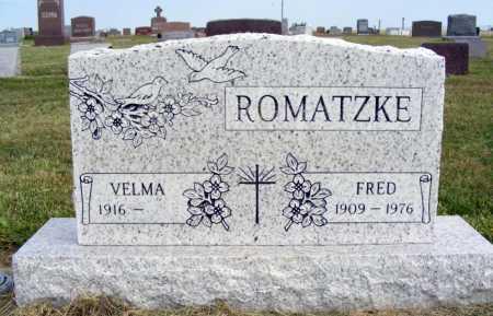 ROMATZKE, FRED - Frontier County, Nebraska | FRED ROMATZKE - Nebraska Gravestone Photos