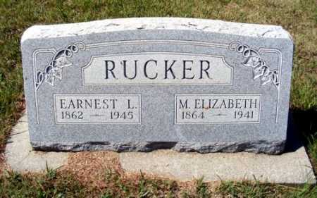 RUCKER, EARNEST L. - Frontier County, Nebraska | EARNEST L. RUCKER - Nebraska Gravestone Photos