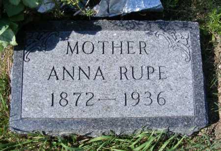 RUPE, ANNA - Frontier County, Nebraska | ANNA RUPE - Nebraska Gravestone Photos