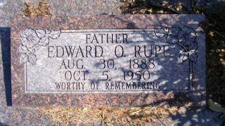 RUPE, EDWARD O. - Frontier County, Nebraska | EDWARD O. RUPE - Nebraska Gravestone Photos
