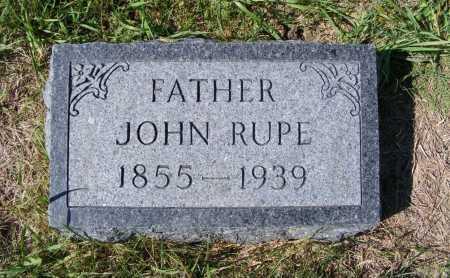 RUPE, JOHN - Frontier County, Nebraska | JOHN RUPE - Nebraska Gravestone Photos