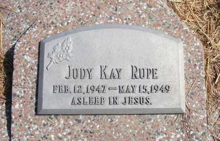 RUPE, JUDY KAY - Frontier County, Nebraska | JUDY KAY RUPE - Nebraska Gravestone Photos