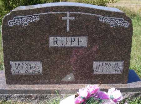 RUPE, FRANK E. - Frontier County, Nebraska | FRANK E. RUPE - Nebraska Gravestone Photos