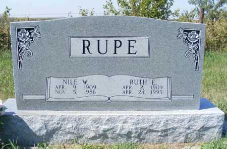 RUPE, NILE W. - Frontier County, Nebraska | NILE W. RUPE - Nebraska Gravestone Photos