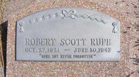 RUPE, ROBERT SCOTT - Frontier County, Nebraska | ROBERT SCOTT RUPE - Nebraska Gravestone Photos