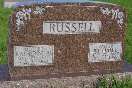 RUSSELL, WILLIAM F. - Frontier County, Nebraska | WILLIAM F. RUSSELL - Nebraska Gravestone Photos