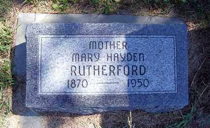 RUTHERFORD, MARY - Frontier County, Nebraska | MARY RUTHERFORD - Nebraska Gravestone Photos