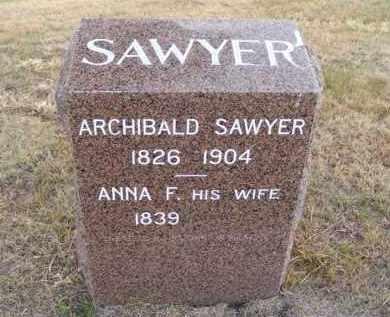 SAWYER, ANNA F. - Frontier County, Nebraska | ANNA F. SAWYER - Nebraska Gravestone Photos