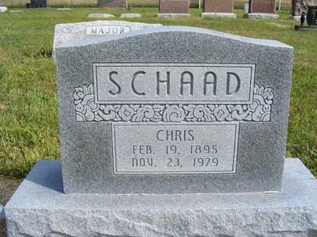 SCHAAD, CHRIS - Frontier County, Nebraska | CHRIS SCHAAD - Nebraska Gravestone Photos