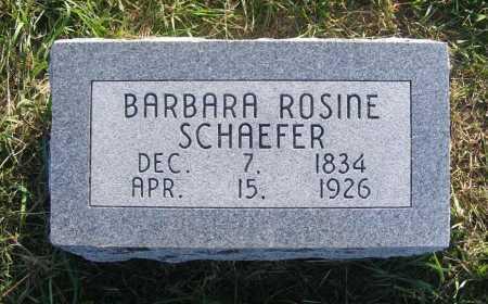SCHAEFER, BARBARA ROSINE - Frontier County, Nebraska | BARBARA ROSINE SCHAEFER - Nebraska Gravestone Photos