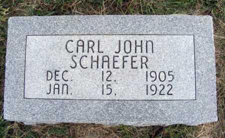SCHAEFER, CARL JOHN - Frontier County, Nebraska | CARL JOHN SCHAEFER - Nebraska Gravestone Photos