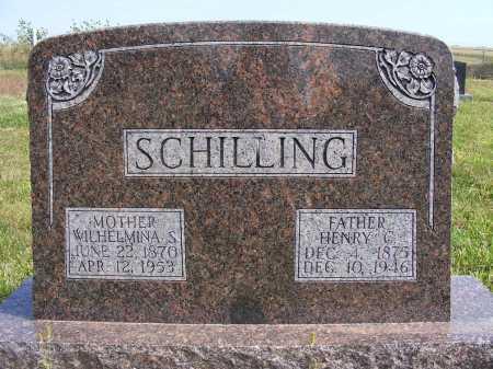 SCHILLING, WILHELMINA S. - Frontier County, Nebraska | WILHELMINA S. SCHILLING - Nebraska Gravestone Photos