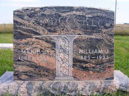 SCHMEECKLE, WILLIAM J. - Frontier County, Nebraska | WILLIAM J. SCHMEECKLE - Nebraska Gravestone Photos