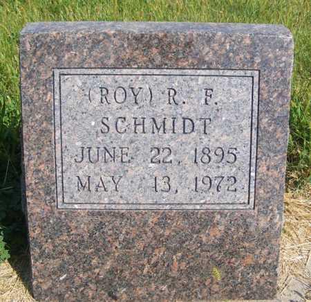 SCHMIDT, (ROY) R. F. - Frontier County, Nebraska   (ROY) R. F. SCHMIDT - Nebraska Gravestone Photos