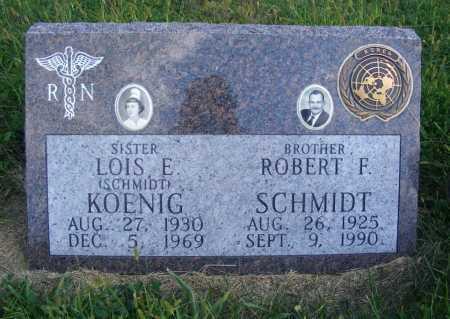 SCHMIDT, ROBERT F. - Frontier County, Nebraska | ROBERT F. SCHMIDT - Nebraska Gravestone Photos