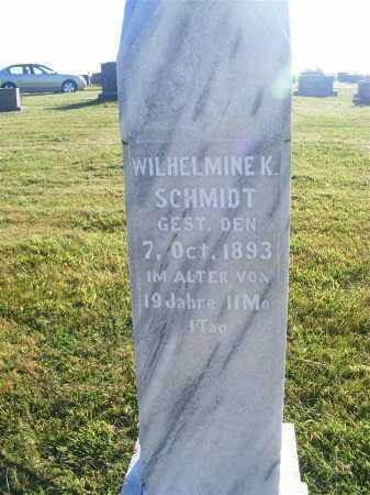 SCHMIDT, WILHELMINE K. - Frontier County, Nebraska | WILHELMINE K. SCHMIDT - Nebraska Gravestone Photos
