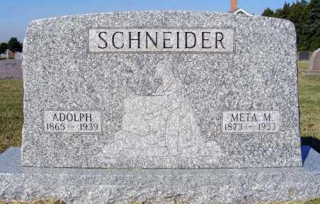 SCHNEIDER, ADOLPH - Frontier County, Nebraska | ADOLPH SCHNEIDER - Nebraska Gravestone Photos