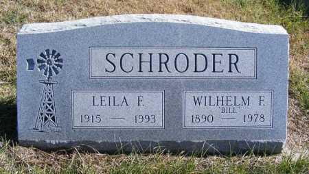 SCHRODER, LEILA F. - Frontier County, Nebraska | LEILA F. SCHRODER - Nebraska Gravestone Photos