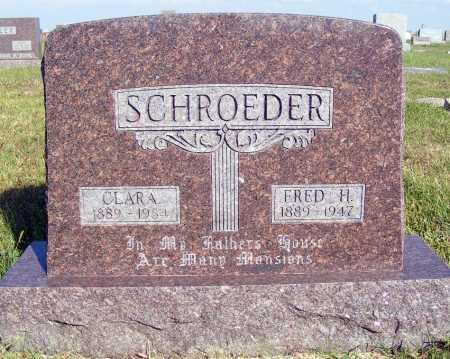 SCHROEDER, CLARA - Frontier County, Nebraska | CLARA SCHROEDER - Nebraska Gravestone Photos