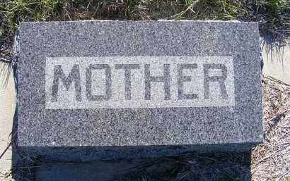 SCHULTZ, MOTHER - Frontier County, Nebraska | MOTHER SCHULTZ - Nebraska Gravestone Photos
