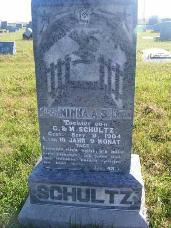 SCHULTZ, MINNA A.S. - Frontier County, Nebraska | MINNA A.S. SCHULTZ - Nebraska Gravestone Photos