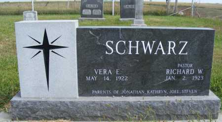 SCHWARZ, RICHARD W. - Frontier County, Nebraska | RICHARD W. SCHWARZ - Nebraska Gravestone Photos