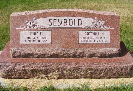 SEYBOLD, GOTTHILF H. - Frontier County, Nebraska | GOTTHILF H. SEYBOLD - Nebraska Gravestone Photos