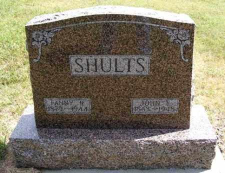 SHULTS, JOHN E. - Frontier County, Nebraska | JOHN E. SHULTS - Nebraska Gravestone Photos