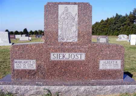 SIEKJOST, ALBERT R. - Frontier County, Nebraska   ALBERT R. SIEKJOST - Nebraska Gravestone Photos