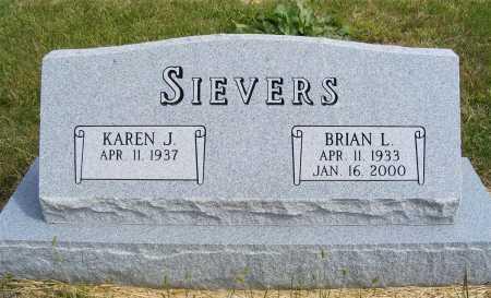 SIEVERS, KAREN J. - Frontier County, Nebraska | KAREN J. SIEVERS - Nebraska Gravestone Photos