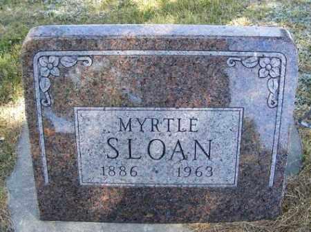 CRABTREE SLOAN, MYRTLE - Frontier County, Nebraska | MYRTLE CRABTREE SLOAN - Nebraska Gravestone Photos