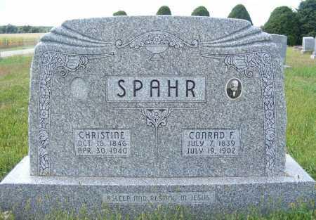 SPAHR, CHRISTINE - Frontier County, Nebraska | CHRISTINE SPAHR - Nebraska Gravestone Photos