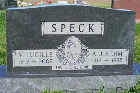 "SPECK, A.J.F. ""JIM"" - Frontier County, Nebraska | A.J.F. ""JIM"" SPECK - Nebraska Gravestone Photos"