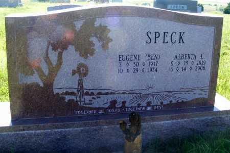SPECK, EUGENE (BEN) - Frontier County, Nebraska | EUGENE (BEN) SPECK - Nebraska Gravestone Photos